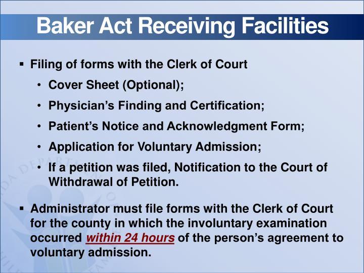 Baker Act Receiving Facilities