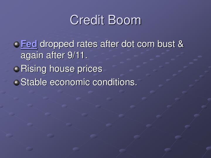 Credit Boom