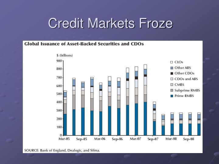 Credit Markets Froze