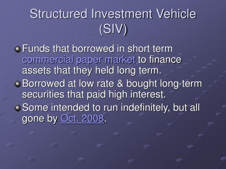 Structured Investment Vehicle (SIV)