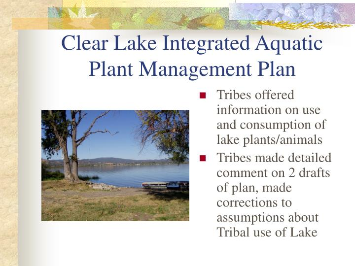Clear Lake Integrated Aquatic Plant Management Plan