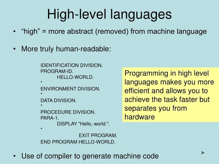 High-level languages