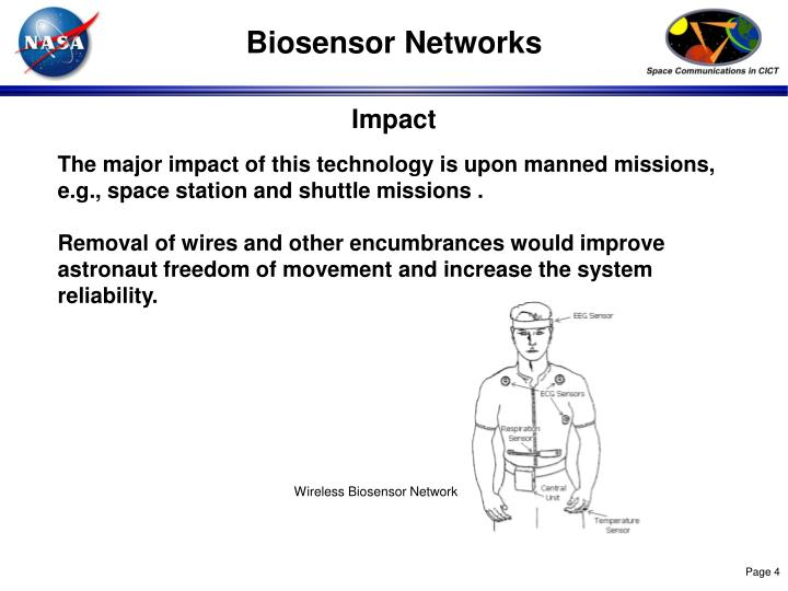 The major impact of this technology is upon manned missions, e.g., space station and shuttle missions .