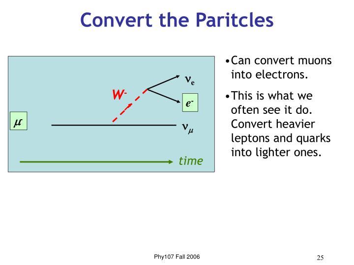 Convert the Paritcles
