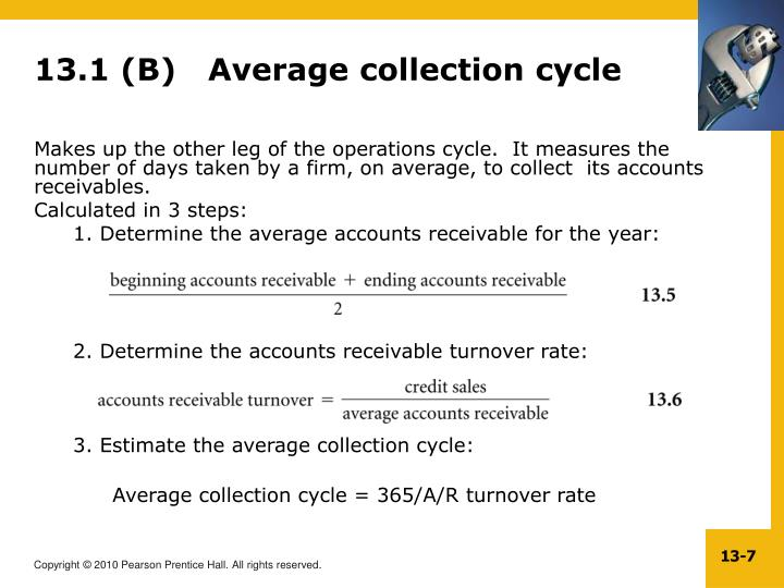 13.1 (B)   Average collection cycle