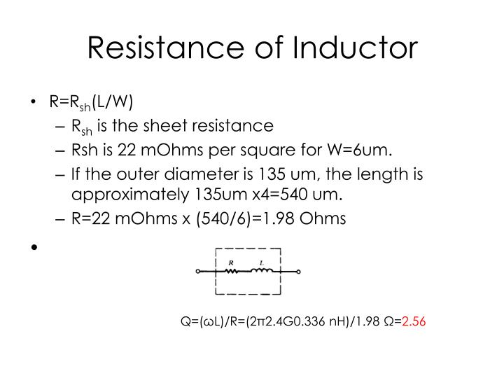Resistance of Inductor