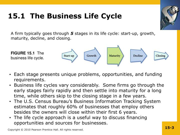 15.1  The Business Life Cycle