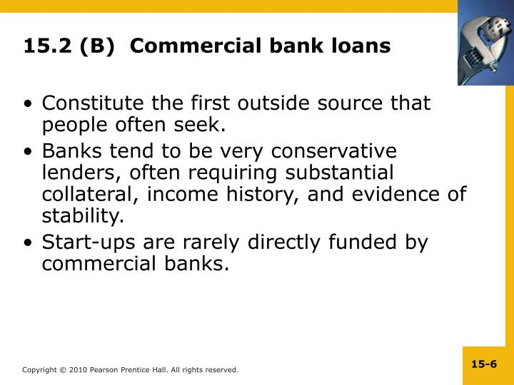 15.2 (B)  Commercial bank loans