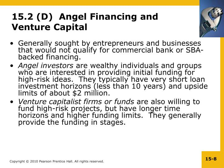 15.2 (D)  Angel Financing and Venture Capital