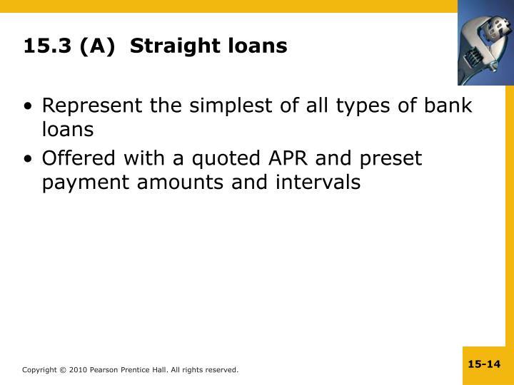 15.3 (A)  Straight loans