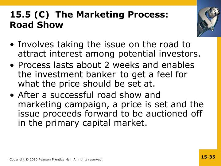 15.5 (C)  The Marketing Process: Road Show