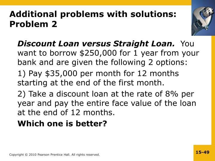 Discount Loan versus Straight Loan.
