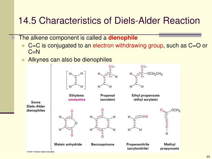 14.5 Characteristics of Diels-Alder Reaction