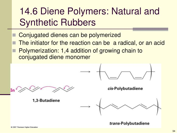 14.6 Diene Polymers: Natural and Synthetic Rubbers