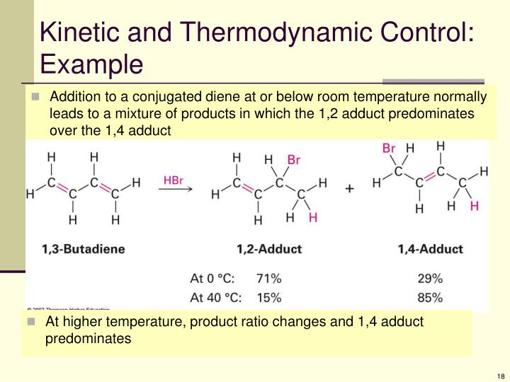 Kinetic and Thermodynamic Control: Example