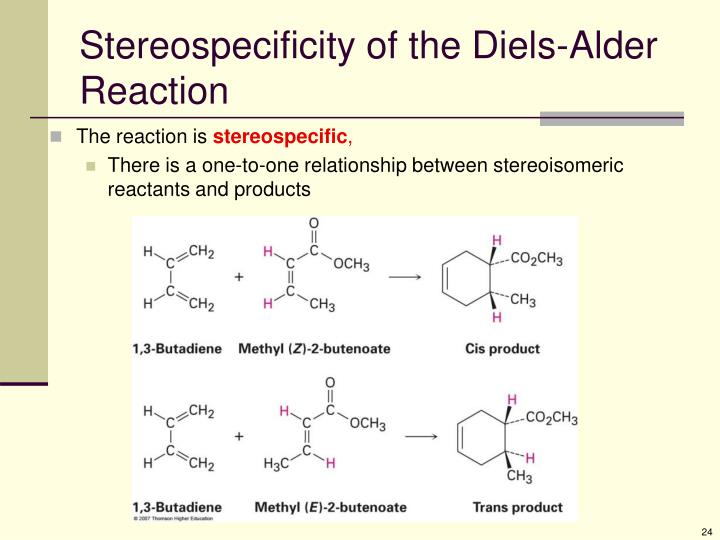 Stereospecificity of the Diels-Alder Reaction