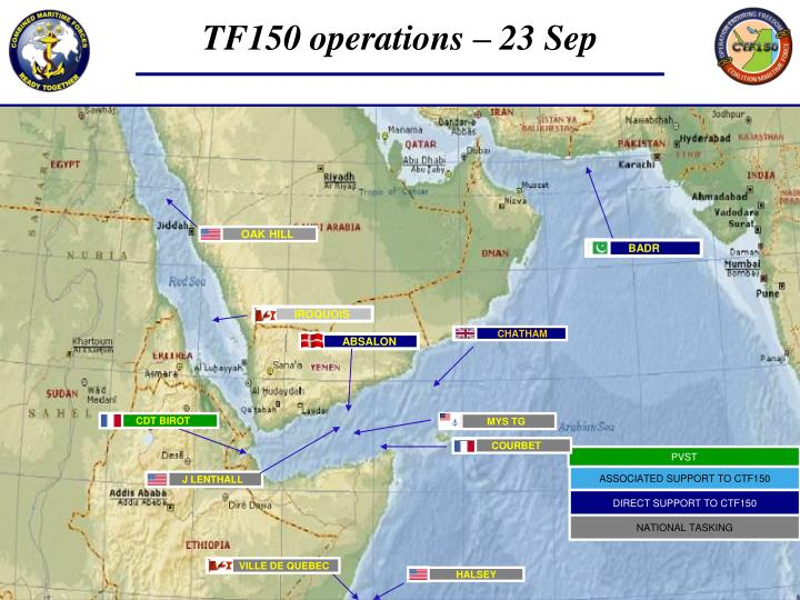 TF150 operations – 23 Sep