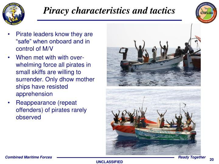 "Pirate leaders know they are ""safe"" when onboard and in control of M/V"