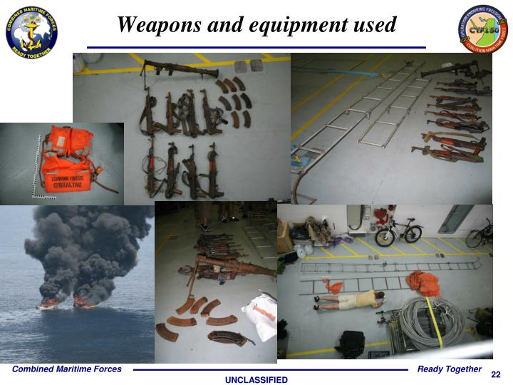 Weapons and equipment used