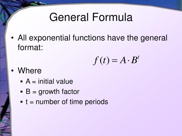 General Formula