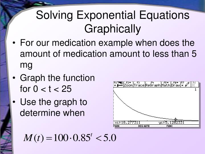 Solving Exponential Equations Graphically