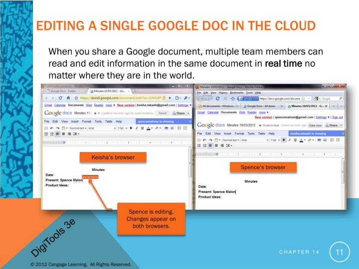 Editing a single Google Doc in the Cloud