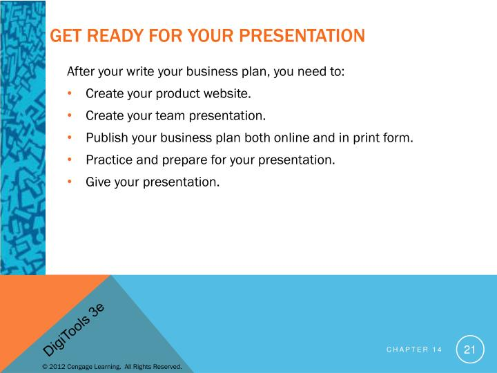 Get Ready for your Presentation