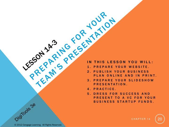 Lesson 14-3