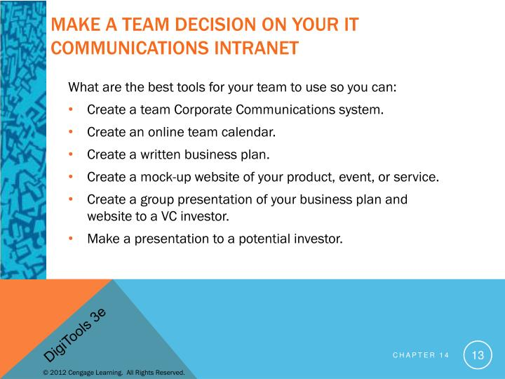 Make a team decision on your IT communications Intranet