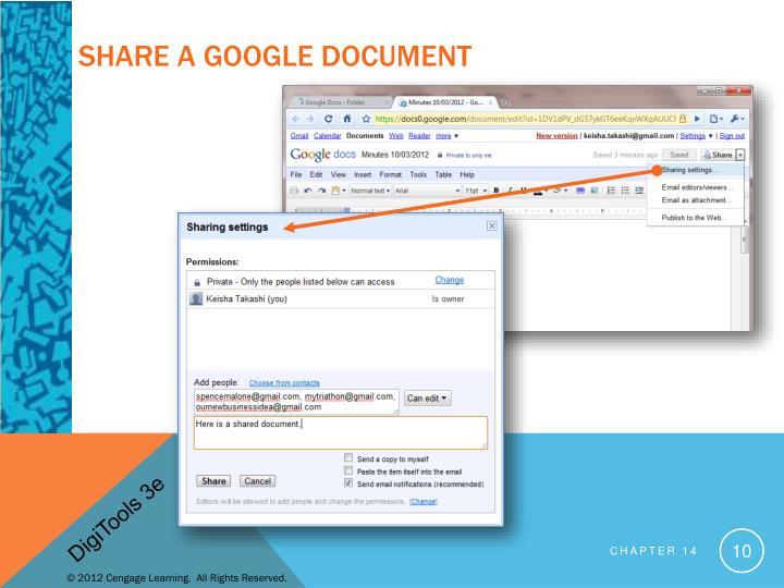Share a Google Document
