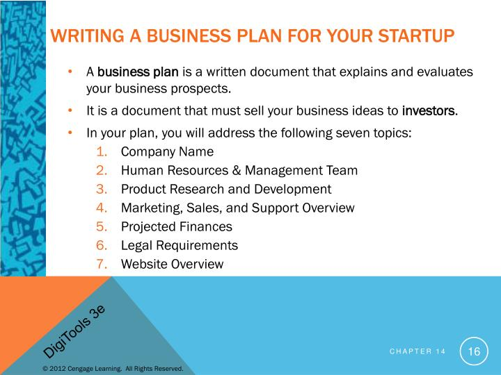 Writing a business plan for your startup