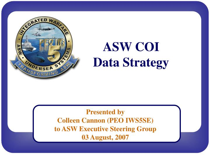 Asw coi data strategy