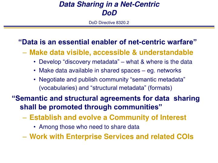 Data Sharing in a Net-Centric