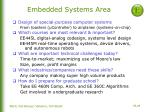 embedded systems area