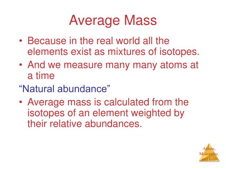 Average Mass
