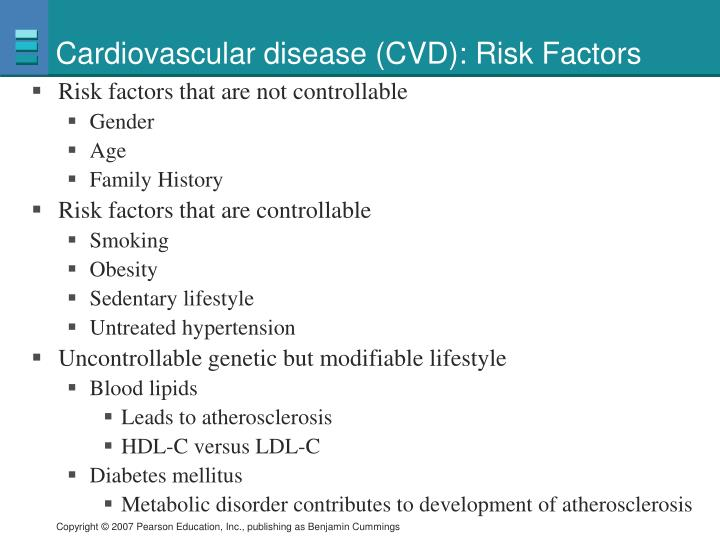 Cardiovascular disease (CVD): Risk Factors