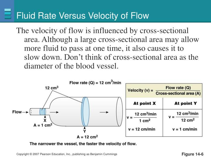 Fluid Rate Versus Velocity of Flow