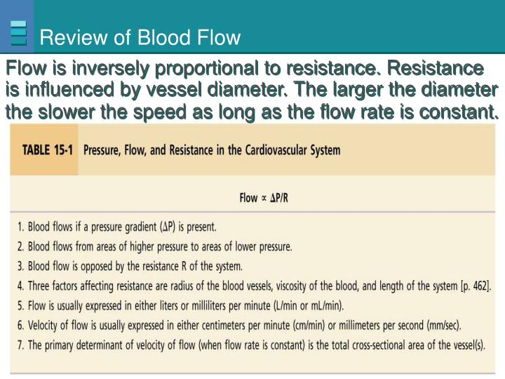 Review of Blood Flow