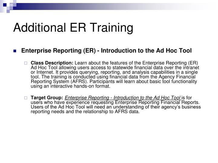 Additional ER Training
