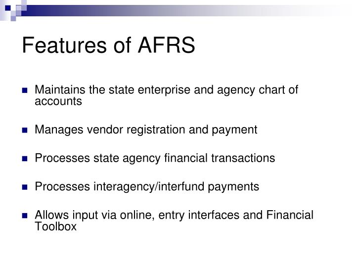 Features of AFRS