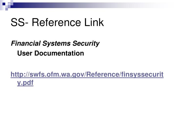 SS- Reference Link