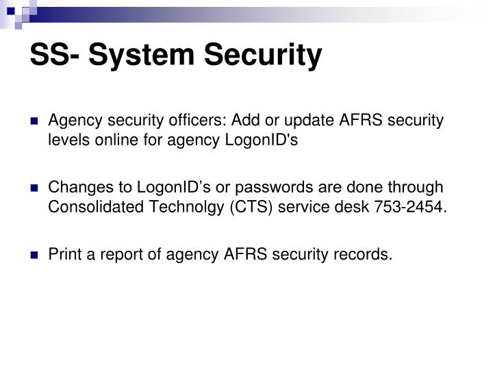 SS- System Security