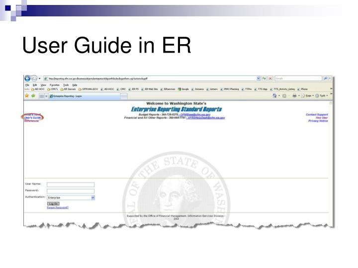 User Guide in ER