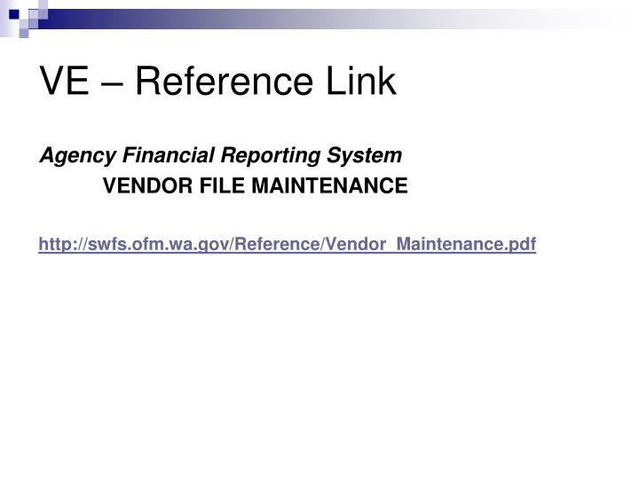 VE – Reference Link