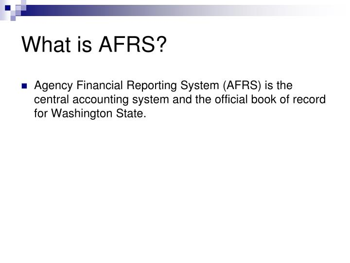 What is AFRS?