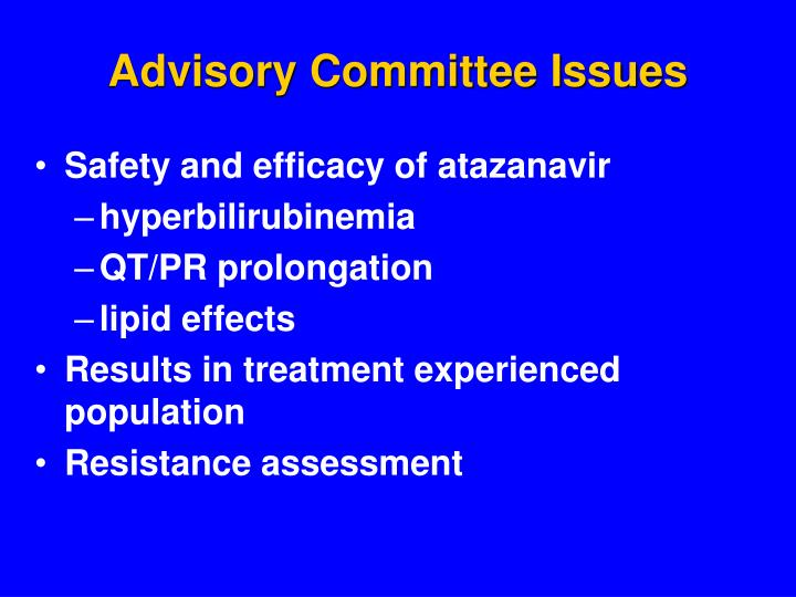 Advisory Committee Issues