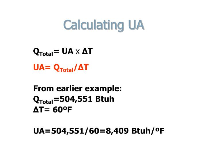Calculating UA