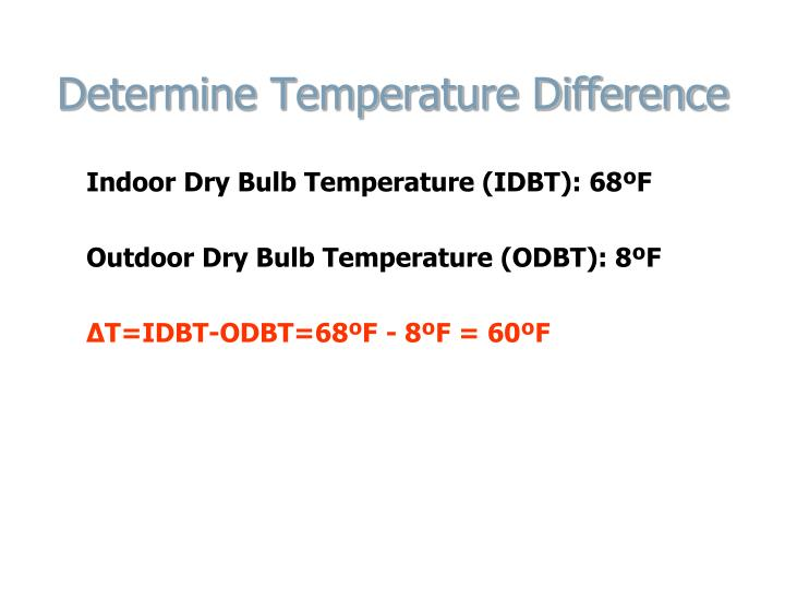 Determine Temperature Difference