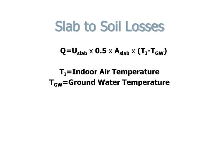 Slab to Soil Losses