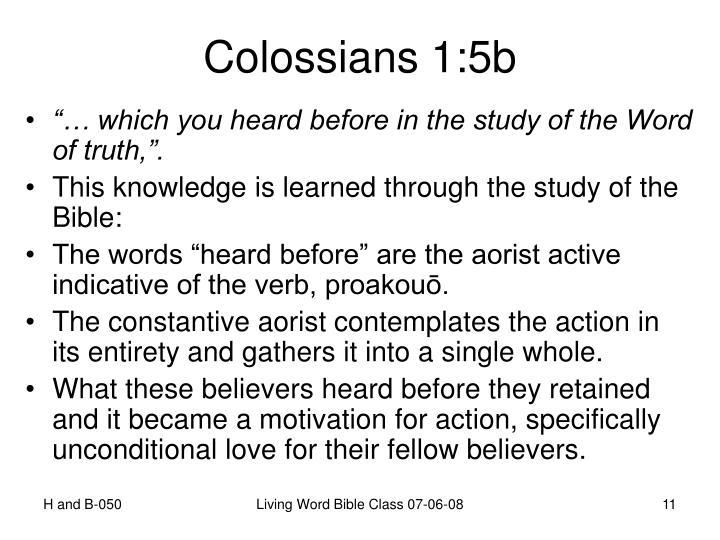 Colossians 1:5b